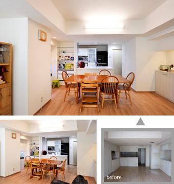 ゆめや施工例【M056神戸市K邸】キッチン・ダイニング