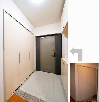 施工例アルバム マンションリフォーム【オリジナルデザインの造作で実現。シンプルモダンな洗面室 ~ 神戸市Y邸】
