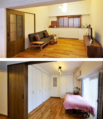 ゆめや施工例【M059神戸市Y邸】リビング・寝室