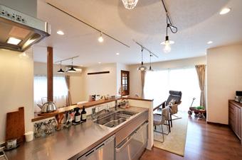 ゆめや施工例【K029神戸市U邸】キッチン・ダイニング・リビング