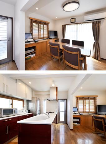 ゆめや施工例【K030神戸市N邸】キッチン・ダイニング・リビング