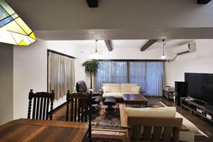 施工例アルバム マンションリフォーム【アンティーク家具と調和する欧風リビング ~ 神戸市N邸】