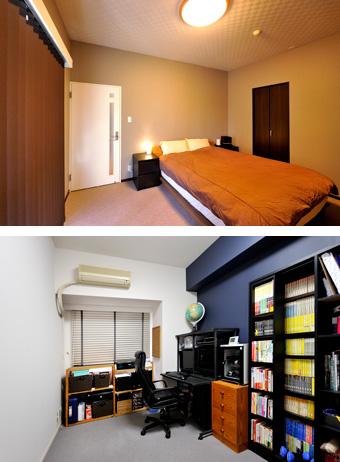 ゆめや施工例【M056神戸市K邸】寝室・書斎