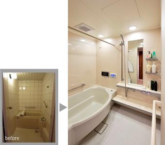 ゆめや施工例【M047芦屋市T邸】浴室 システムバス