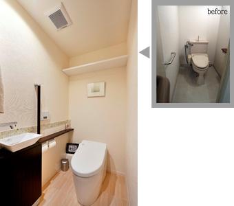 ゆめや施工例【M047芦屋市T邸】トイレ
