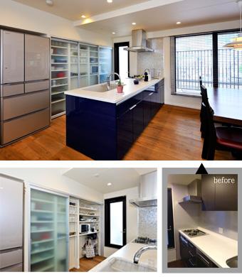 ゆめや施工例【M060神戸市M邸】キッチン・カップボード