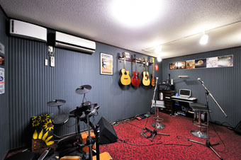 ゆめや施工例【K023尼崎市I邸】音楽スタジオ