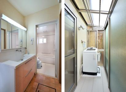 ゆめや施工例【K031明石市T邸】洗面・浴室・テラス