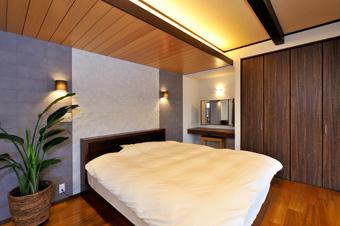 ゆめや施工例【M061神戸市K邸】寝室(ベッドスペース)