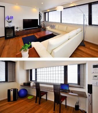 ゆめや施工例【M060神戸市M邸】リビング・ワークカウンター
