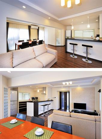 ゆめや施工例【K023尼崎市I邸】2階に移設したLDK