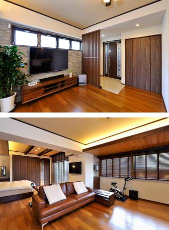 ゆめや施工例【M061神戸市K邸】リビング・玄関