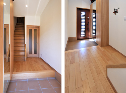 ゆめや施工例【K031明石市T邸】玄関・廊下・階段