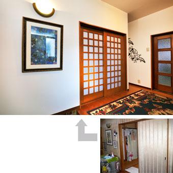 ゆめや施工例【K025西宮市O邸】玄関ホール