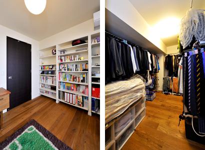 ゆめや施工例【M060神戸市M邸】ウォークインクローゼット・書棚
