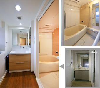 ゆめや施工例【M062神戸市M邸】洗面室・浴室