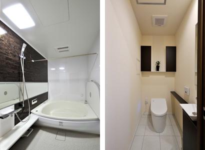 ゆめや施工例【M061神戸市K邸】トイレ・浴室
