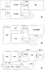 ゆめや施工例【K023尼崎市I邸】間取り図面