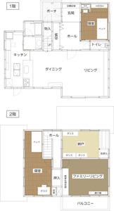 ゆめや施工例【K025西宮市O邸】間取り図面:アフター