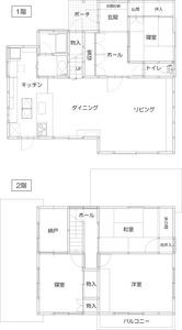 ゆめや施工例【K025西宮市O邸】間取り図面:ビフォー