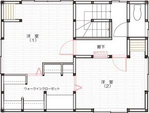ゆめや施工例【K028神戸市A邸】間取り図面:ビフォー